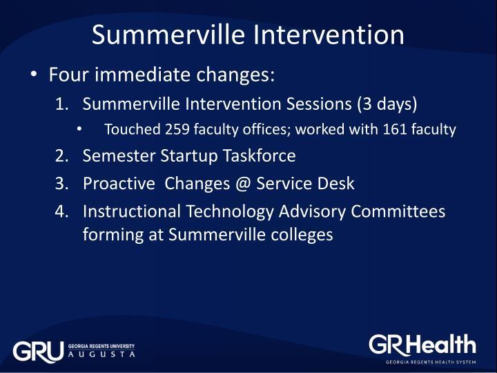 Summerville Intervention