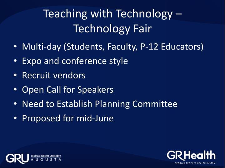 Teaching with Technology – Technology Fair