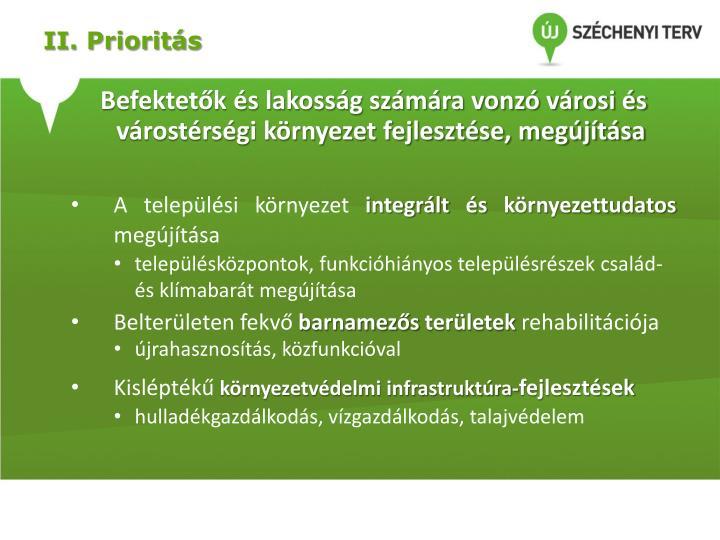 II. Prioritás