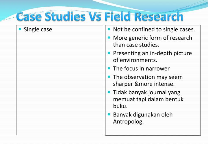 Case Studies Vs Field Research