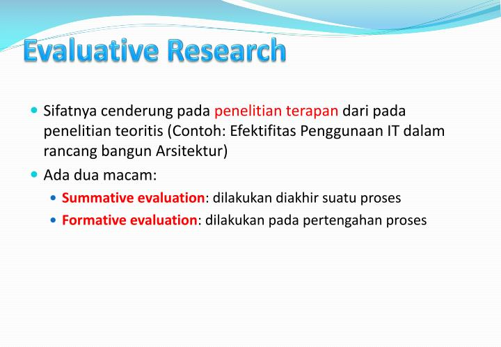 Evaluative Research