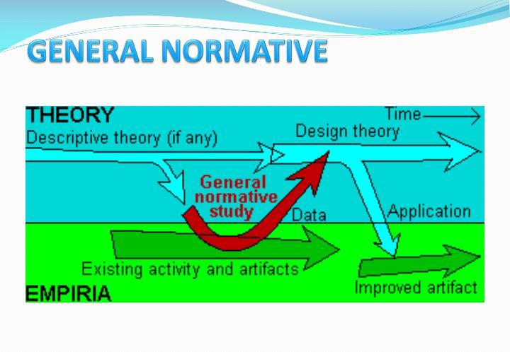 GENERAL NORMATIVE