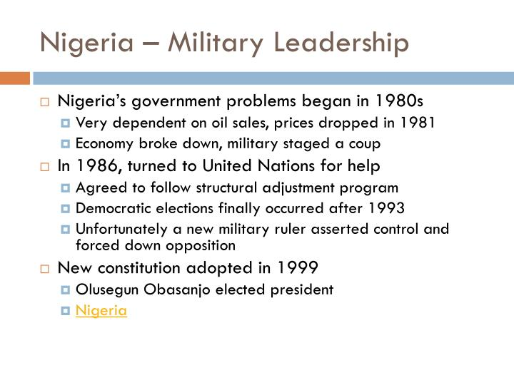 Nigeria – Military Leadership