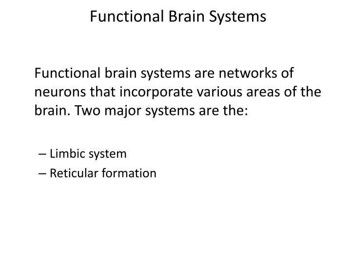 Functional Brain Systems