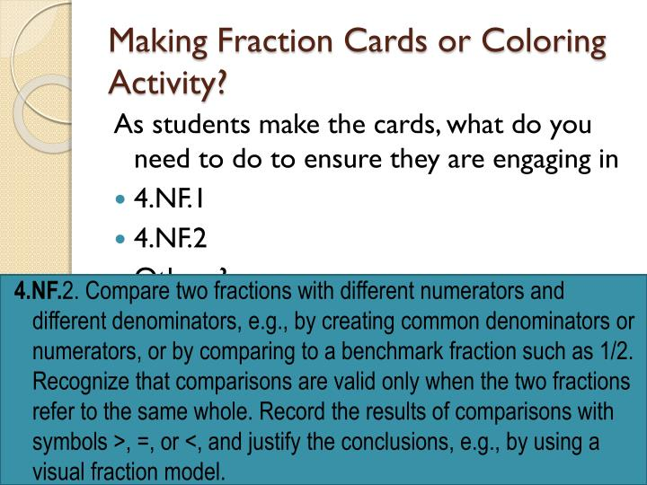 Making Fraction Cards or Coloring Activity?