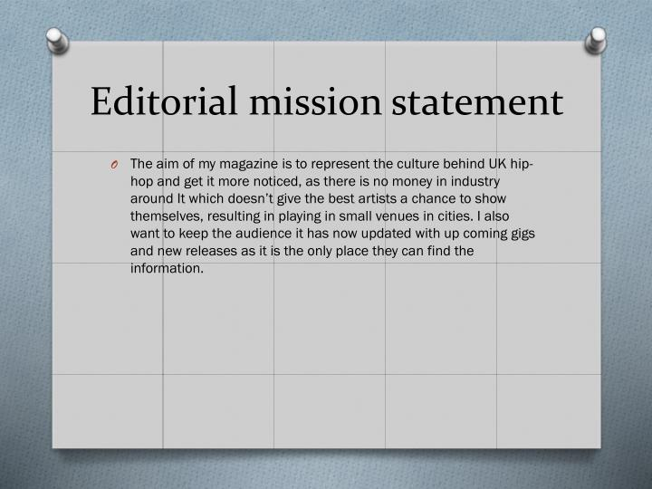 Editorial mission statement