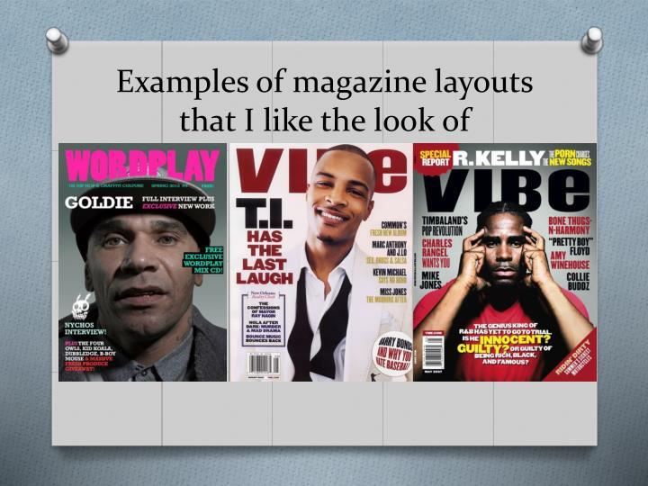 Examples of magazine