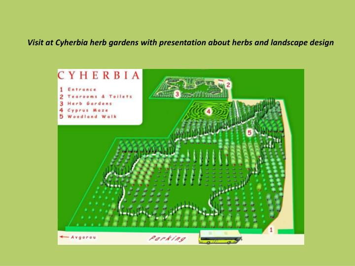 Visit at Cyherbia herb gardens with