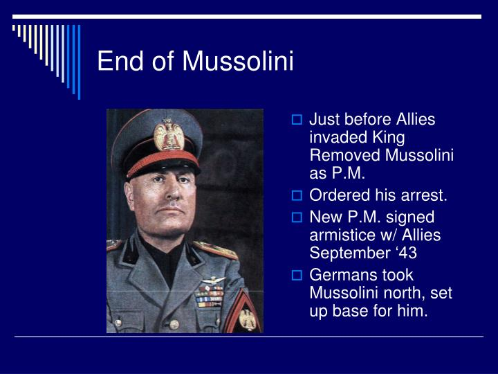 End of Mussolini