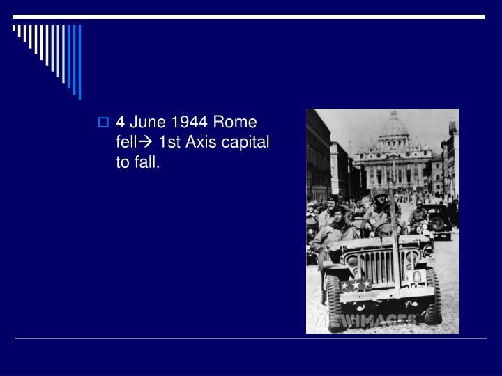 4 June 1944 Rome fell