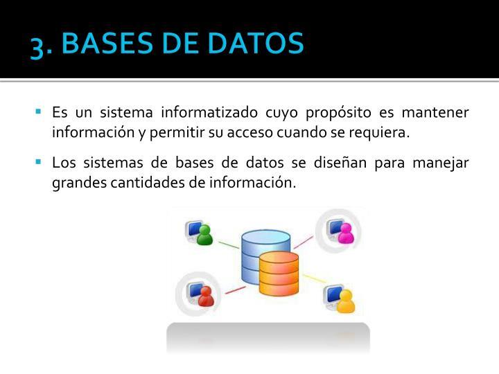 3. BASES DE DATOS