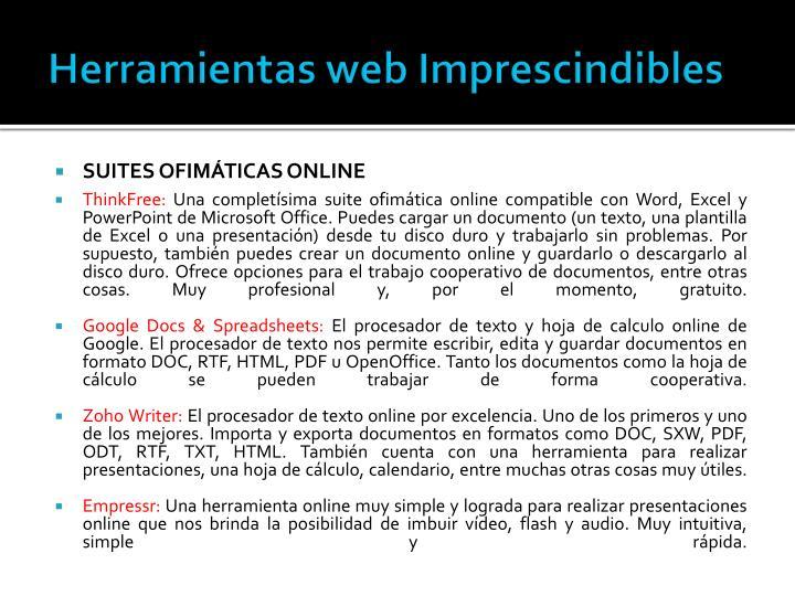 Herramientas web Imprescindibles