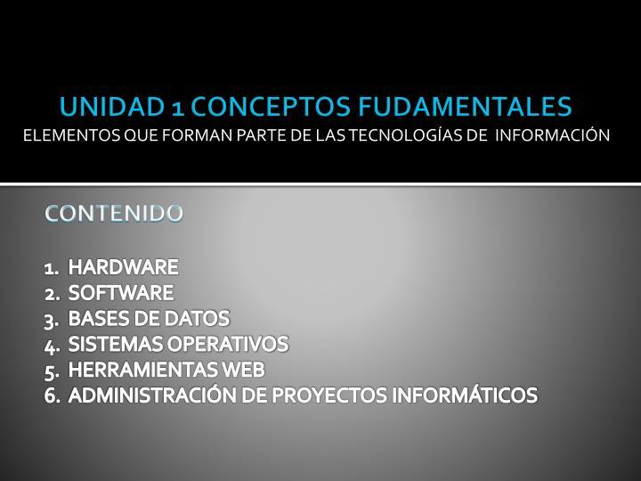 UNIDAD 1 CONCEPTOS FUDAMENTALES