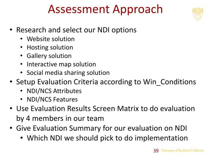 Assessment Approach