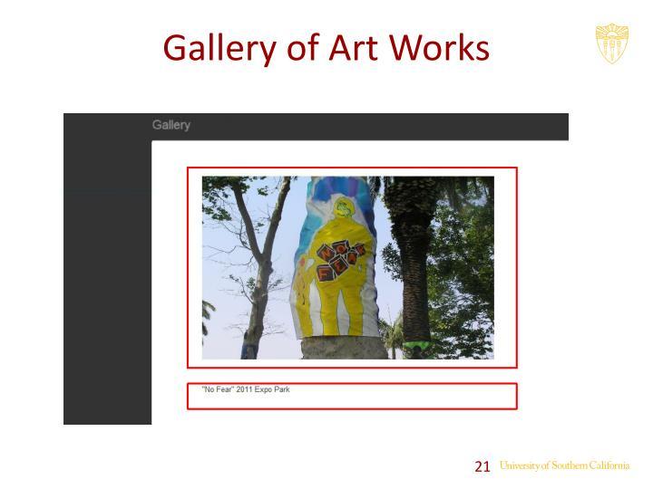 Gallery of Art Works