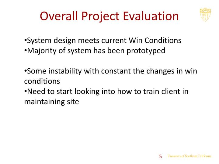 Overall Project Evaluation