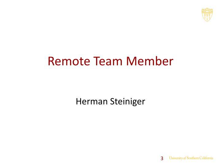 Remote Team Member
