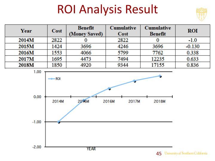 ROI Analysis Result