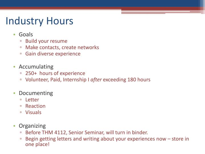 Industry Hours