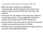 growth of byzantine culture west