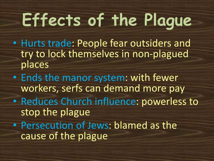 Effects of the Plague
