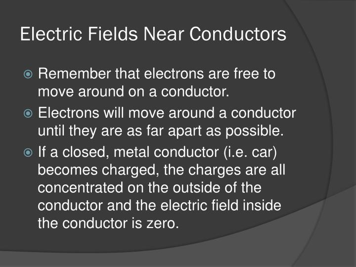Electric Fields Near Conductors