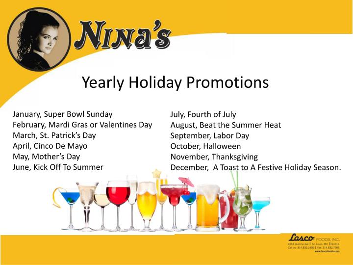 Yearly Holiday Promotions