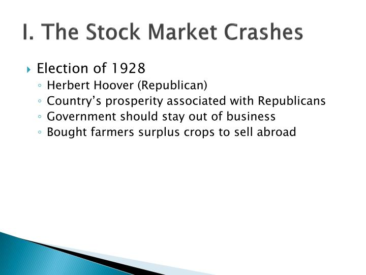 I the stock market crashes