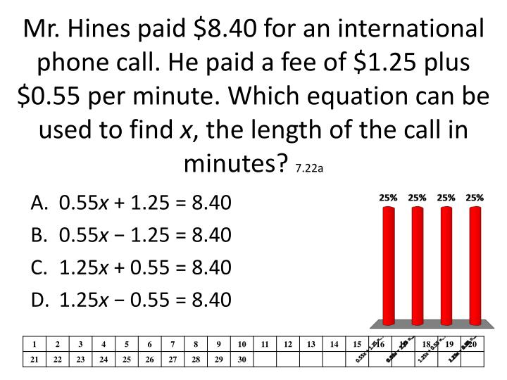 Mr. Hines paid $8.40 for an international