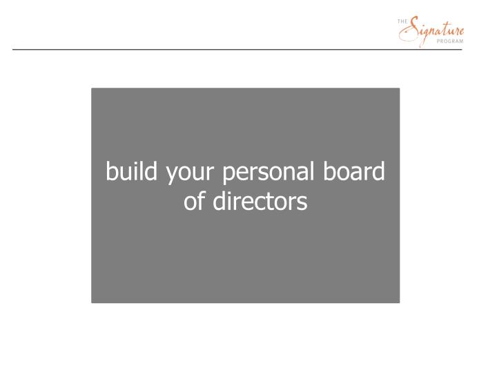 build your personal board of directors