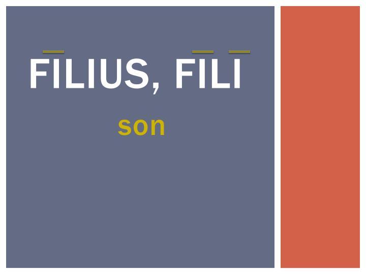 Filius