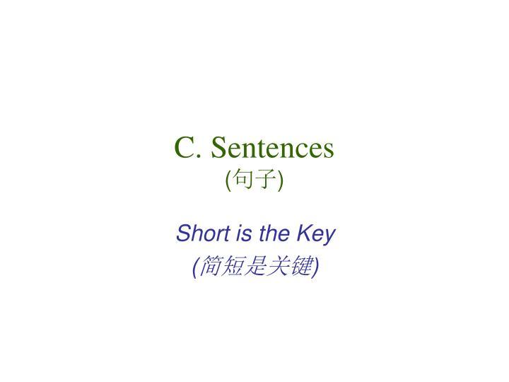 C. Sentences