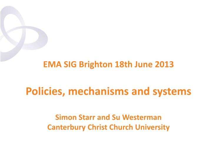 EMA SIG Brighton 18th June 2013