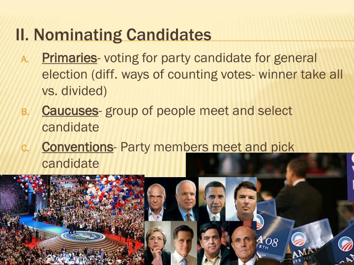II. Nominating Candidates