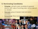 ii nominating candidates