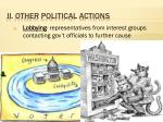 ii other political actions