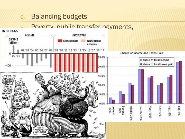 Balancing budgets