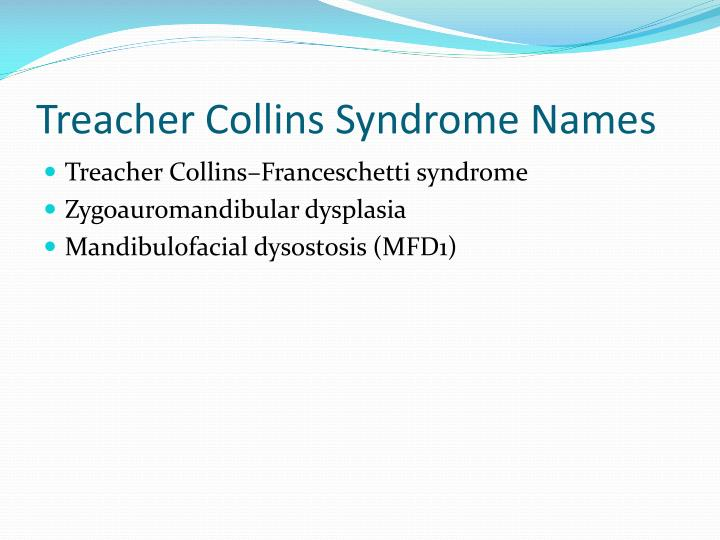 Treacher Collins Syndrome Names