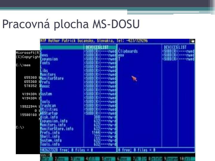 Pracovná plocha MS-DOSU