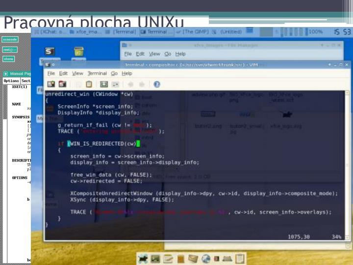 Pracovná plocha UNIXu