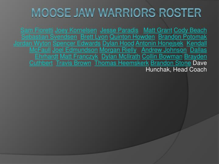 Moose jaw warriors roster