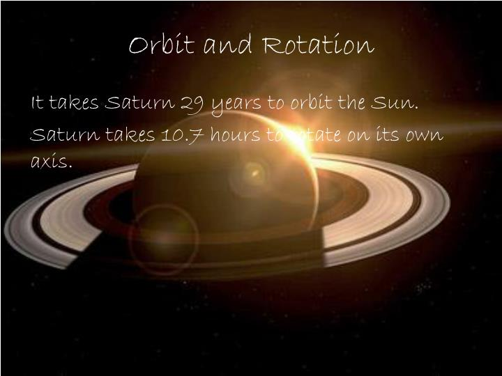 Orbit and Rotation