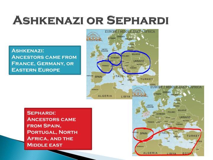 Ashkenazi or Sephardi