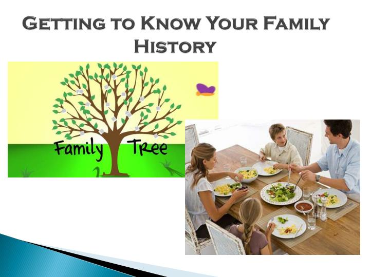 Getting to Know Your Family 			History