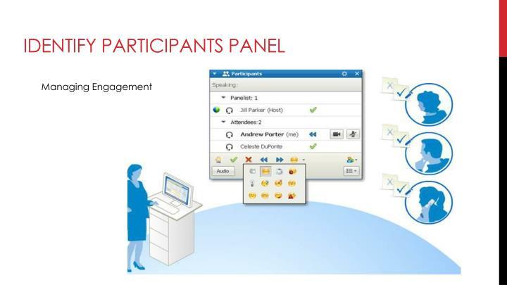 Identify Participants Panel