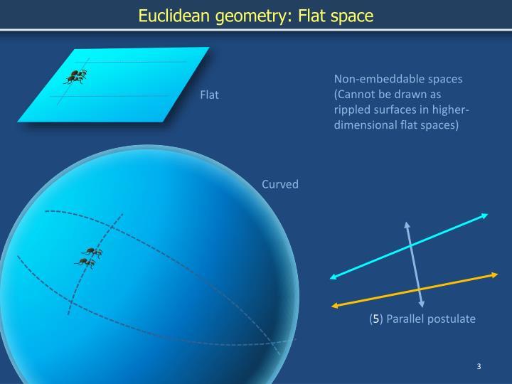 Euclidean geometry: Flat space