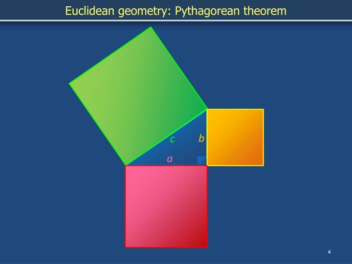 Euclidean geometry: Pythagorean theorem