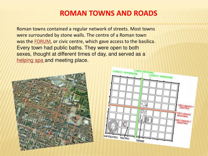 ROMAN TOWNS AND ROADS