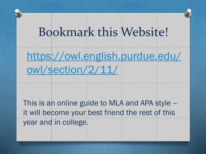 Bookmark this Website!