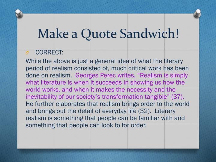 Make a Quote Sandwich!